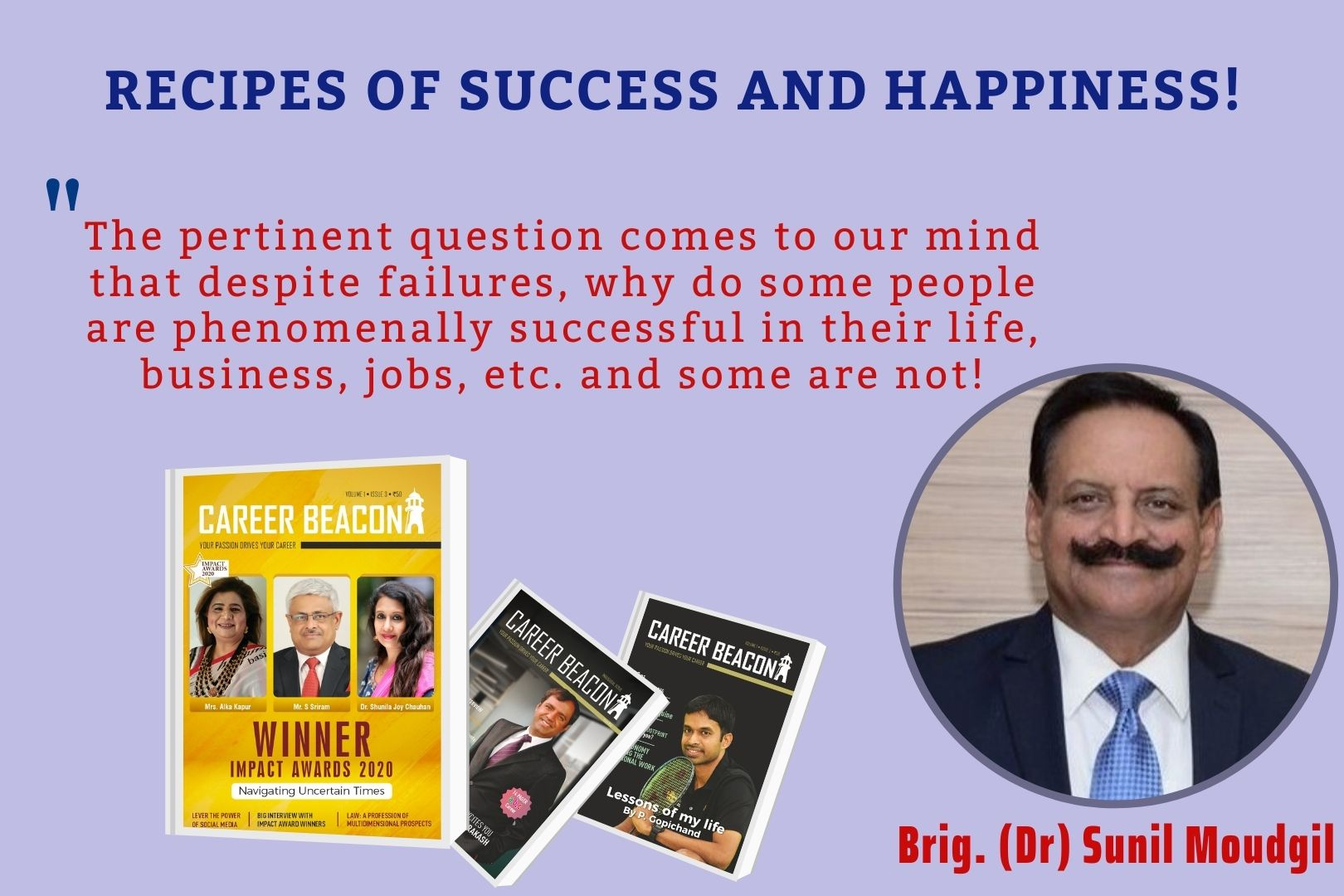 RECIPES OF SUCCESS AND HAPPINESS!