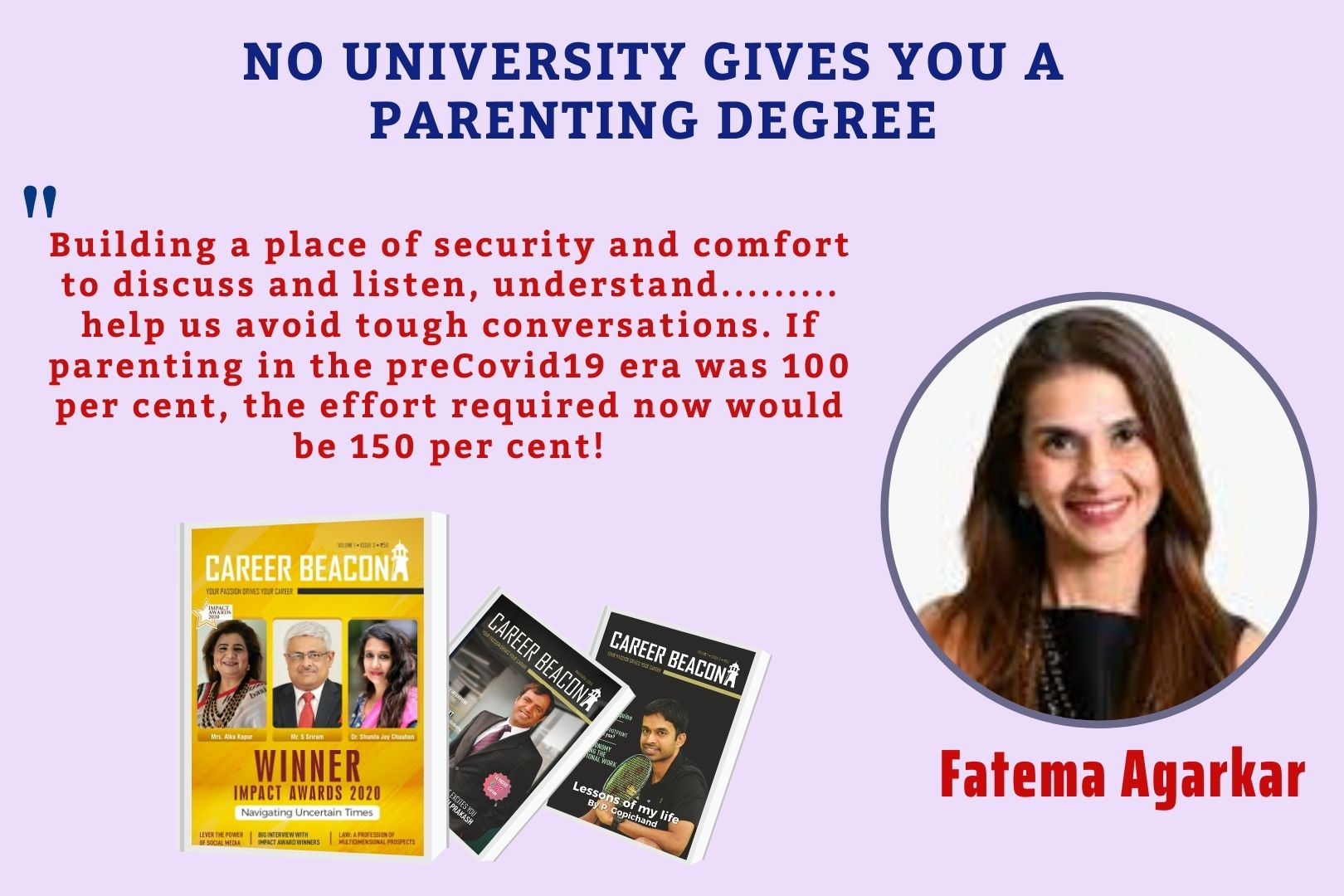 NO UNIVERSITY GIVES YOU A PARENTING DEGREE