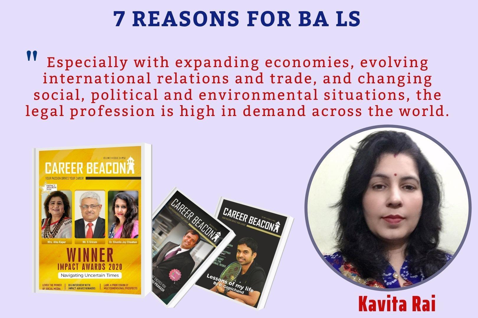 7 reasons for  BA LS