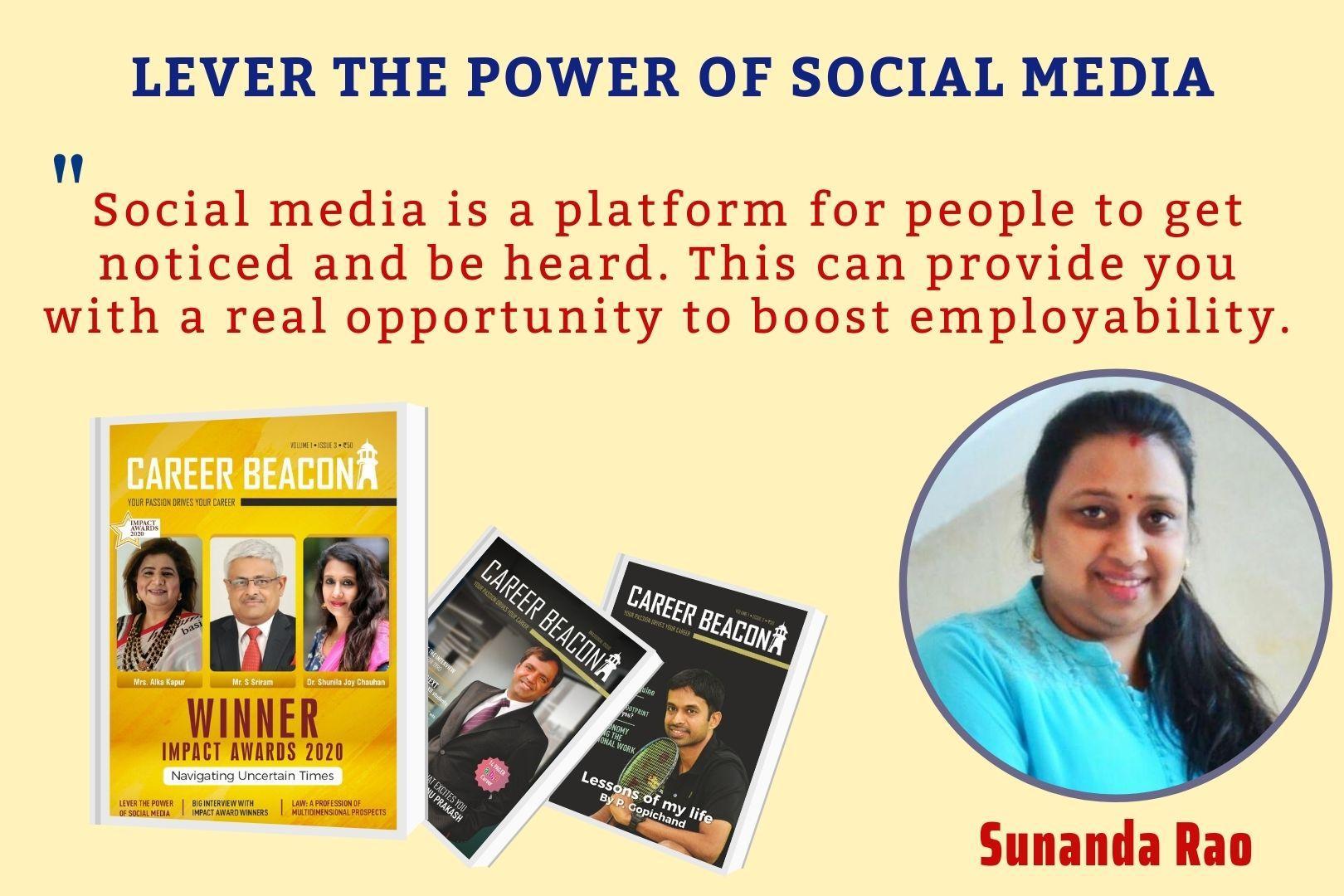 LEVER THE POWER OF SOCIAL MEDIA