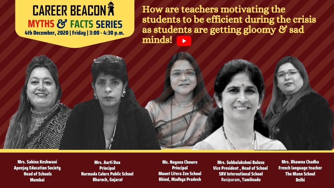 How are teachers motivating the students to be efficient during the crisis?