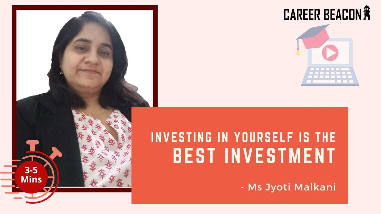 Investing in yourself is the best investment.