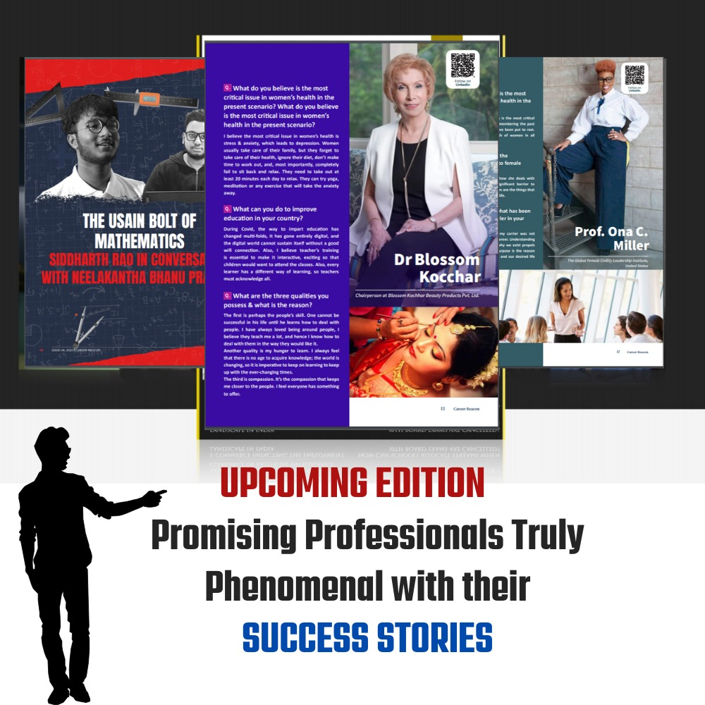 Promising professionals truly phenomenal with their success stories.